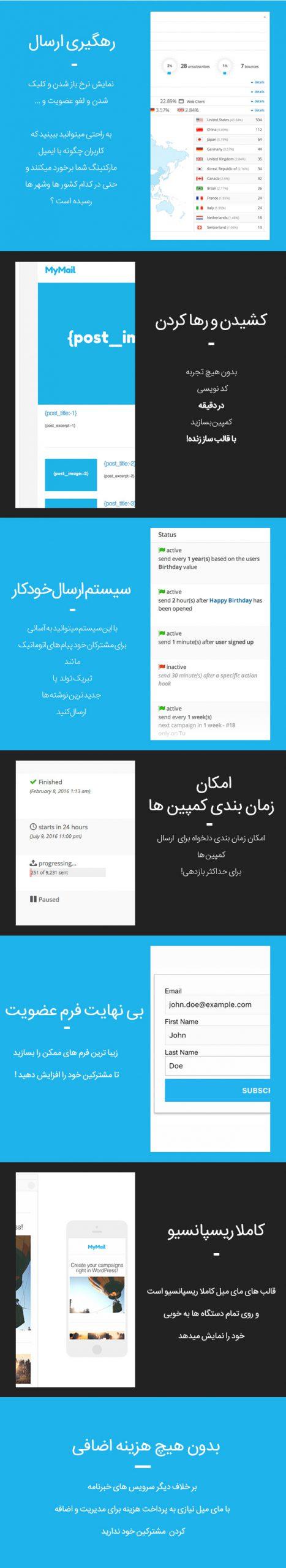MyMail فارسی | خبرنامه فوق حرفه ای وردپرس | Mailster افزونه ایمیل مارکتینگ وردپرس